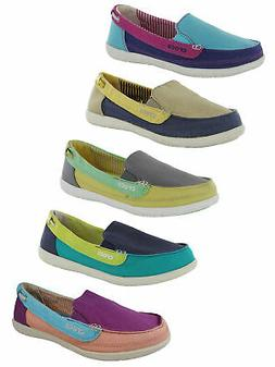Crocs Womens Walu Canvas Loafer Slip On Shoe