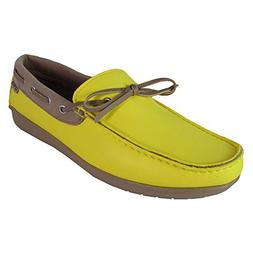 Crocs Womens Wrap ColorLite Loafer Shoes, Sunshine/Tumblewee