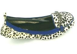 Yosi Samra YS Foldable Flat loafer Orly White Calf Hair Pick